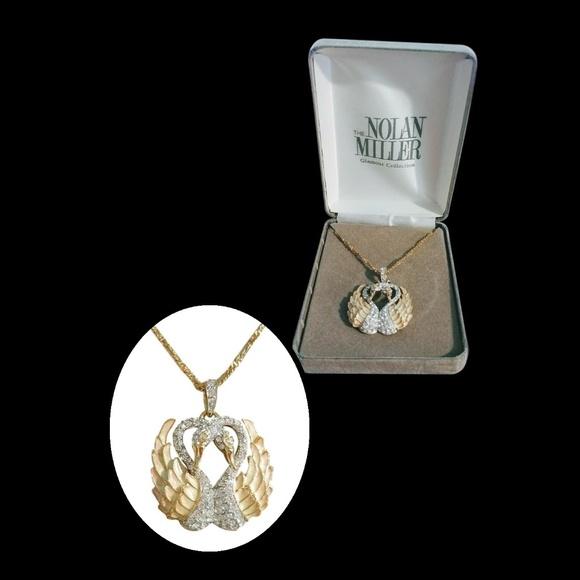 ed05673ca8bdd Vintage Nolan Miller Swan Necklace